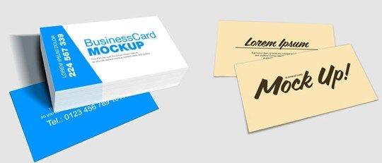 business card mockup designs (free)