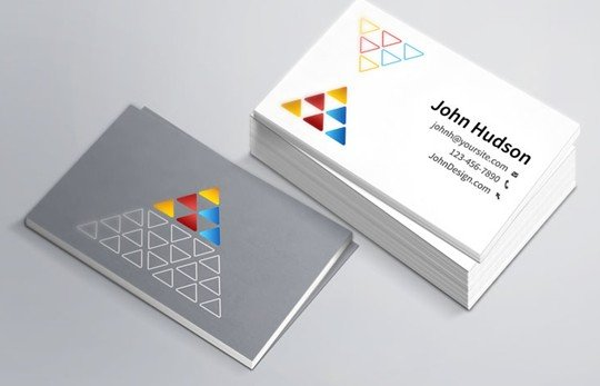 business card template & mockup (free)