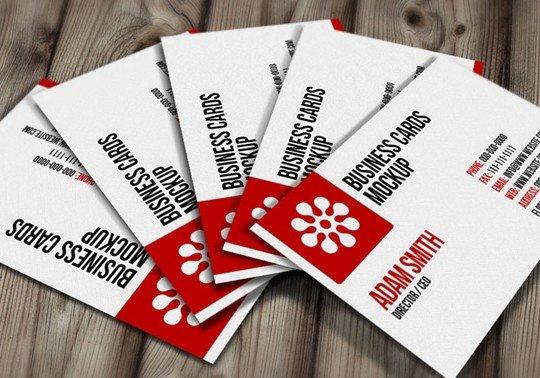 free psd: business cards mockup (free)