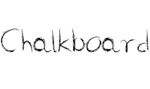 chalkboard by marta van eck font