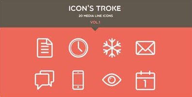stroke line icons