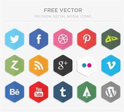 flat polygon icons