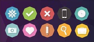 10 basic flat icons