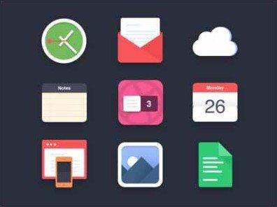 flat icons (psd) - 3 dribbble invites