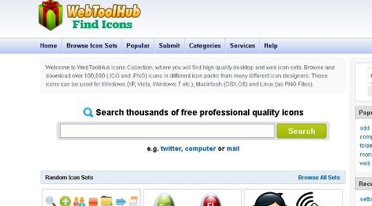 webtoolhub find icons