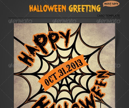 Halloween Greeting Card - Spider Web By Katzeline