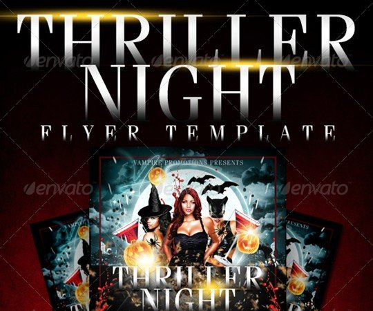 Thriller Night Halloween Flyer Template By CreativeB