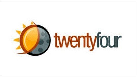 twenty four logo - logo psd file