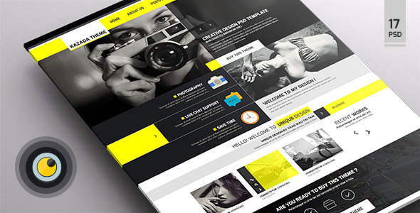 kazada - multipurpose psd templates
