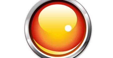 a glassy button