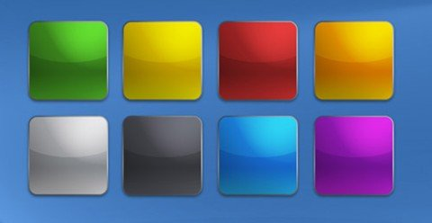 iphone style buttons modifiedbuttons PSD