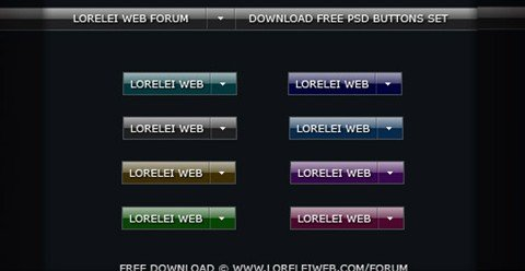 8 free vista buttons pack