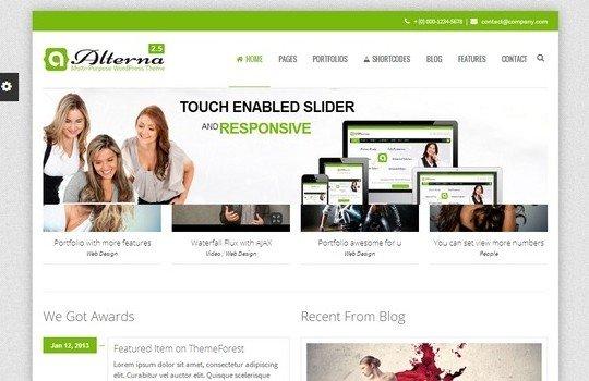 Alterna – Retina Responsive Multi-Purpose WordPress Theme