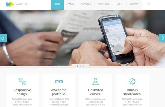 Venture – Responsive Corporate & Creative Theme