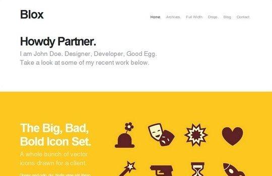 Blox: Bold WordPress Portfolio Theme