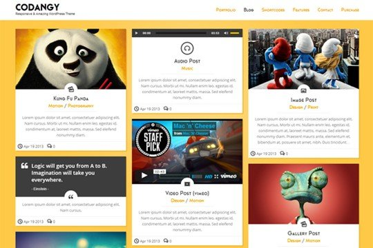 codangy – responsive portfolio & blog theme – wordpress