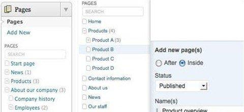admin menu tree page view (FREE)