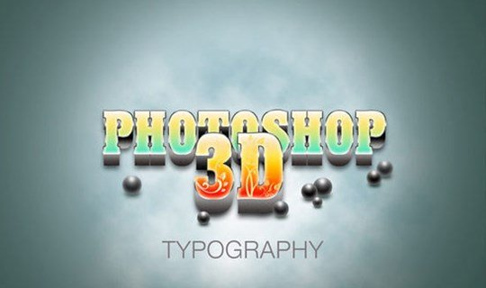 how to create a realistic 3d typography