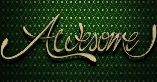 create 3d style lettering