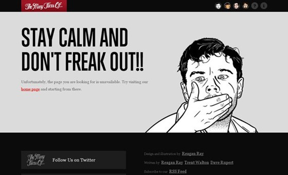 The Many Faces Of - 404 page designs