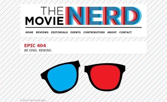 The Movie Nerd - 404 page designs