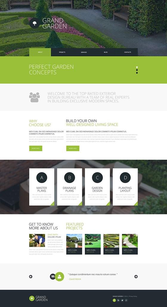 Garden Design Responsive Website Template