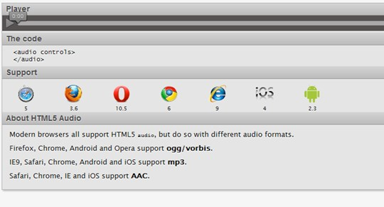 html5 audio element