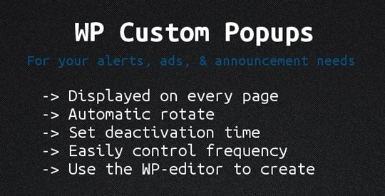 Wordpress Custom Popups