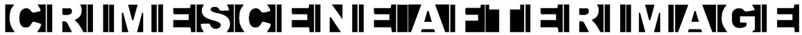 Crimescene Afterimage Font