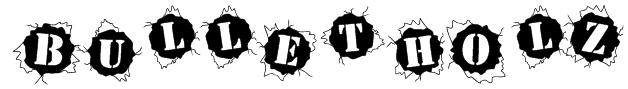 BulletHolz Font