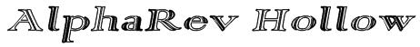 AlphaRev Hollow Font