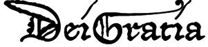 DeiGratia Font