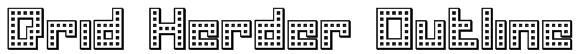 Drid Herder Outline Font