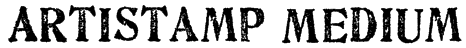 Artistamp Medium Font