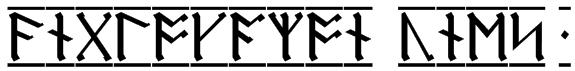 AngloSaxon Runes 1 Font