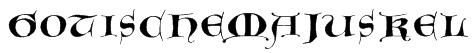 GotischeMajuskel Font