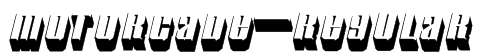 Motorcade-Regular Font