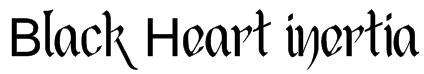 Black Heart Inertia Font