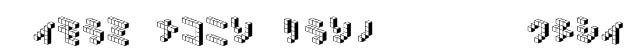 DemonCubicBlock NKP Shade Font