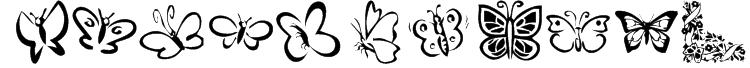 KR Butterflies Font