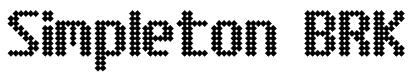 Simpleton BRK Font