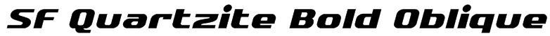 SF Quartzite Bold Oblique Font
