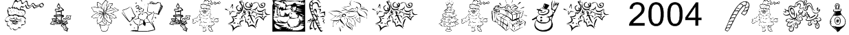 KR Christmas Dings 2004 Five Font