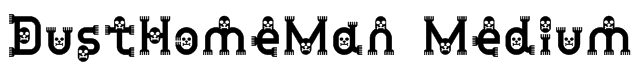 DustHomeMan Medium Font