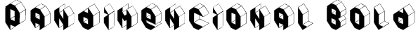 Pandimencional Bold Font