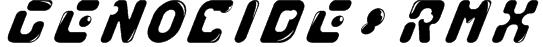 GENOCIDE_RMX Font