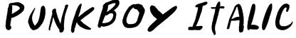Punkboy Italic Font