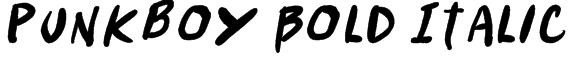 Punkboy Bold Italic Font