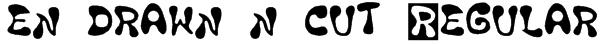 en drawn n cut Regular Font