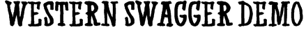 Western Swagger DEMO Font